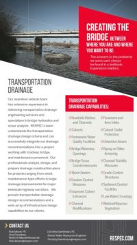 Flyer image for Transportation Drainage