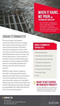 Flyer image for Urban Stormwater